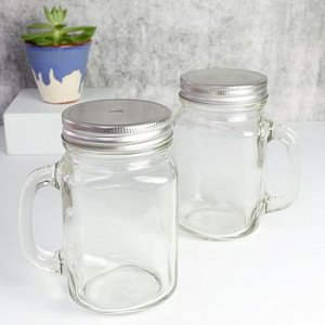 Cocktail Mason Jars (Straws included)